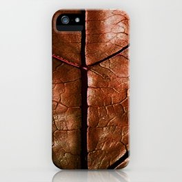 MACHO MANS ART OLD LEATHERY BROWN LEAF iPhone Case