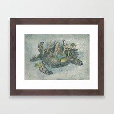 Coral Camouflage  Framed Art Print