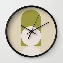 Contemporary Composition 05 - Golden Lime Wall Clock