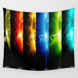 Solar Flare Rainbow Wall Tapestry