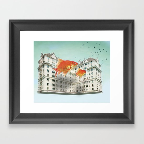 afloat Framed Art Print