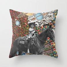 Cowboy and His Guns Throw Pillow