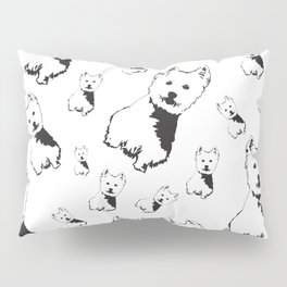 CHRISTMAS THEME GIFTS OF THE WEST HIGHLAND TERRIER Pillow Sham