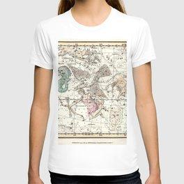 Taurus, Antinous, Aquila, Delphinus Constellations Celestial Atlas Plate 10 - Alexander Jamieson T-shirt