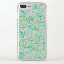 420 Leaves Clear iPhone Case