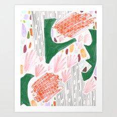 Seeing Spaces - White Art Print
