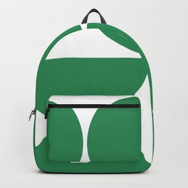 Mid Century Modern Green Square Backpack
