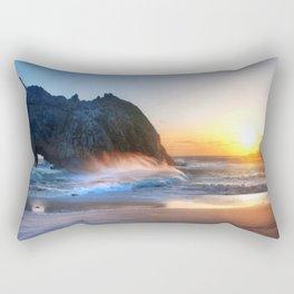 Waves Sunset Rectangular Pillow