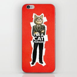 Cat Person iPhone Skin