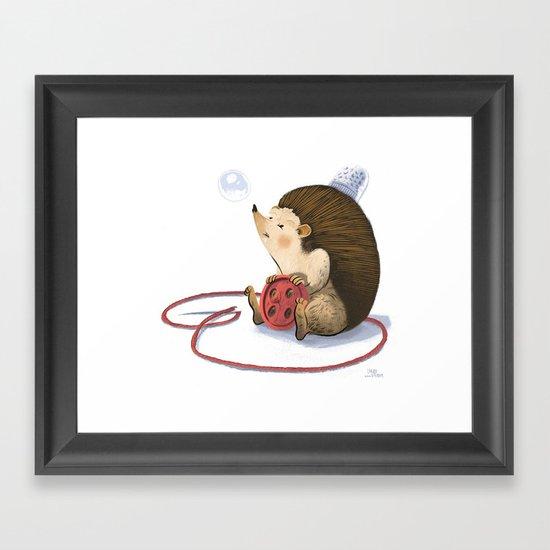 Hedgy Framed Art Print