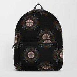 Beige Cross Flower Pattern Backpack