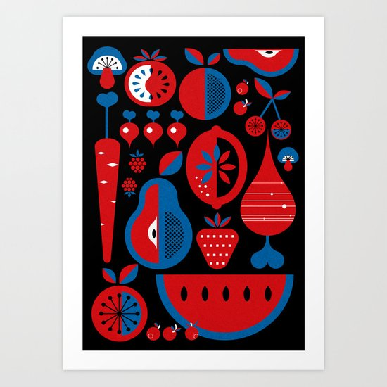 Fruits Art Print