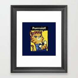 Purrsist Framed Art Print