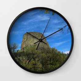 Devils Tower View Wall Clock