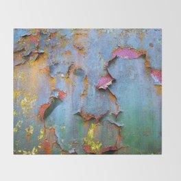 Peeling paint and rust textures 135 Throw Blanket