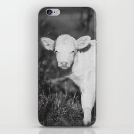 Cute Calf (Black and White) iPhone Skin