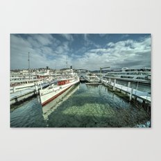 Paddle Boats of Lake Lucerne Canvas Print