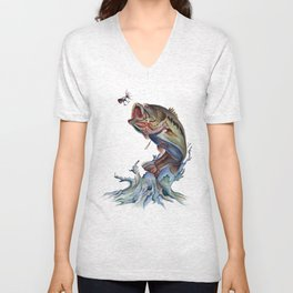 Bass Fish Unisex V-Neck