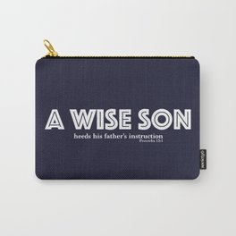 A wise son Blue/White Carry-All Pouch