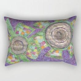 King Flower and Queen Flower Rectangular Pillow