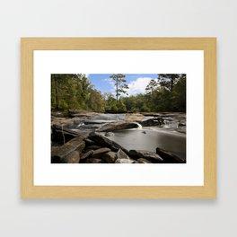Hidden Rocky River Framed Art Print