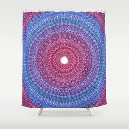 Keeping a Loving Heart Mandala Shower Curtain