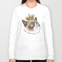 grumpy Long Sleeve T-shirts featuring Grumpy King by Chase Kunz