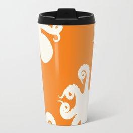 Orange Octopus Travel Mug