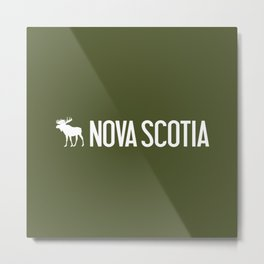 Nova Scotia Moose Metal Print
