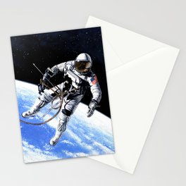 Red white and blue all over Stationery Cards