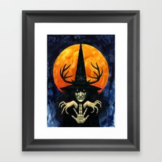 Autumn Conjurer Framed Art Print