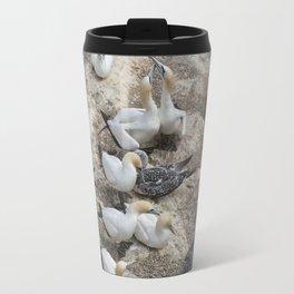Gannets in a row Travel Mug