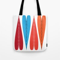 valentines Tote Bags featuring Tall Valentines by KatieKatherine