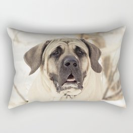 Portrait of English Mastiff Rectangular Pillow