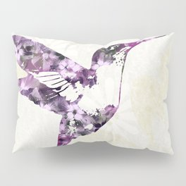 Purple Hummingbird Art Pillow Sham