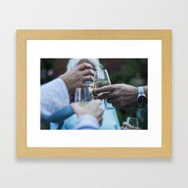 """cheers"" Framed Art Print"