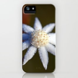Not So Lesser Flannel Flower iPhone Case