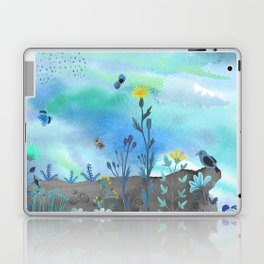 Blue Garden I Laptop & iPad Skin