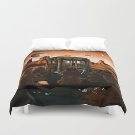 The jawas find sparepart from tardis iPhone 4 4s 5 5c 6, pillow case, mugs and tshirt Duvet Cover