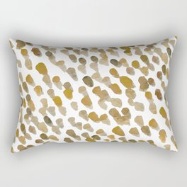 Imperfect brush strokes - ochre and brown Rectangular Pillow