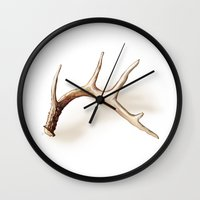 antler Wall Clocks featuring Antler by Kendra Aldrich