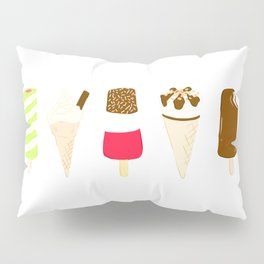 Classic Summer Ice-Creams Pillow Sham