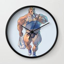 Bara Bear Blue Wall Clock