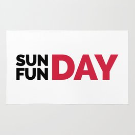 Sunday Funday Funny Quote Rug