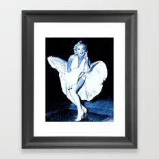 Marilyn Monroe Dress Framed Art Print