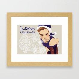 """ INDIGO christmas "" Framed Art Print"