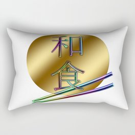 Luxurious and beautiful plates and chopsticks. Japanese is described as a Japanese food.  Rectangular Pillow