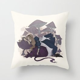 Sleeping Alice Throw Pillow