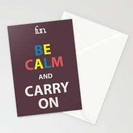 Be Calm and Carry On  Stationery Cards