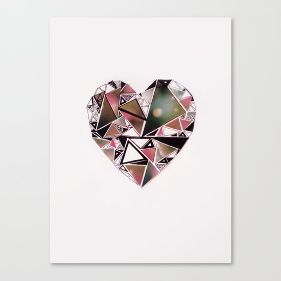 shattered heart. Canvas Print